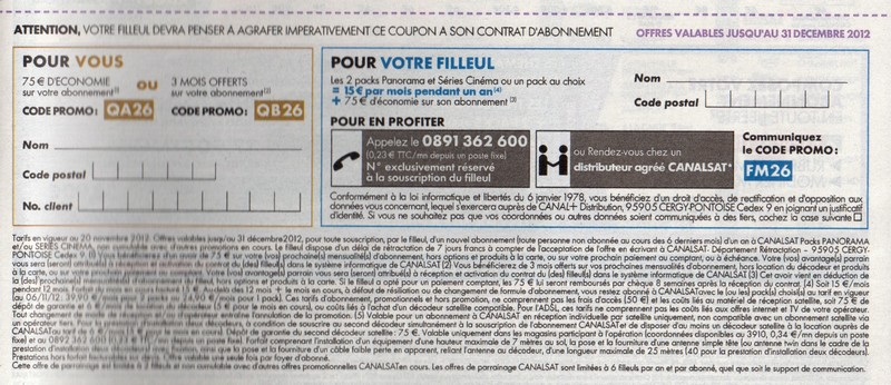 Exemple de coupon de réduction